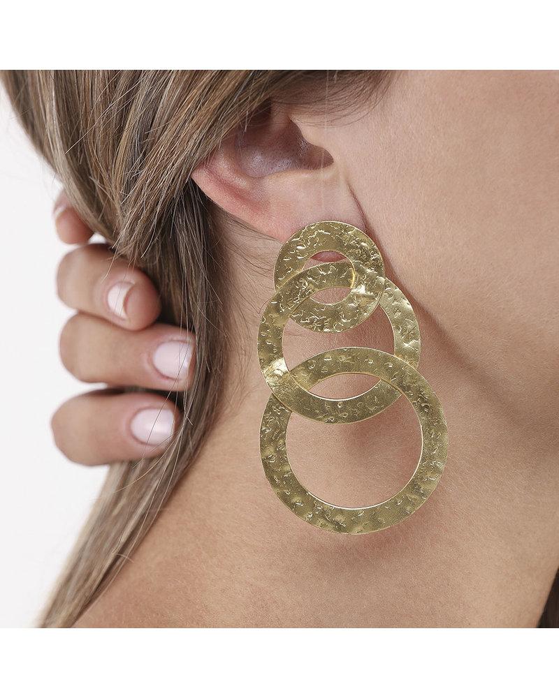 3 CIRCLES FLAT EARRING