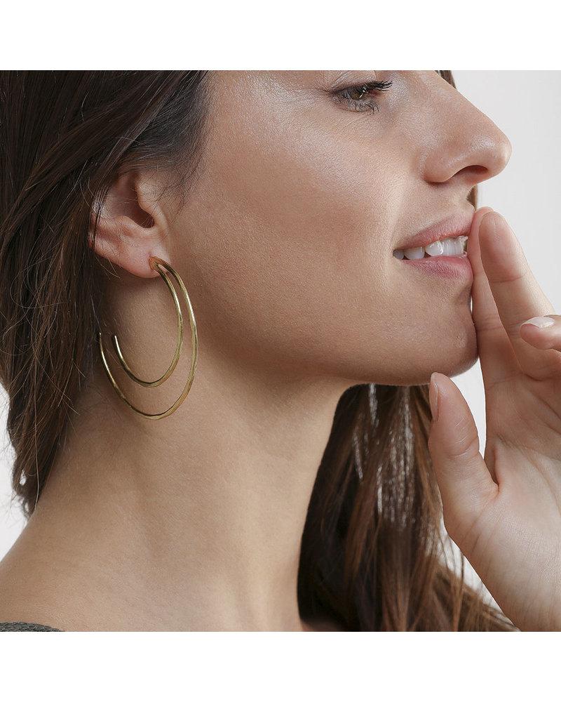 2 BIG SEMICIRCLE EARRING
