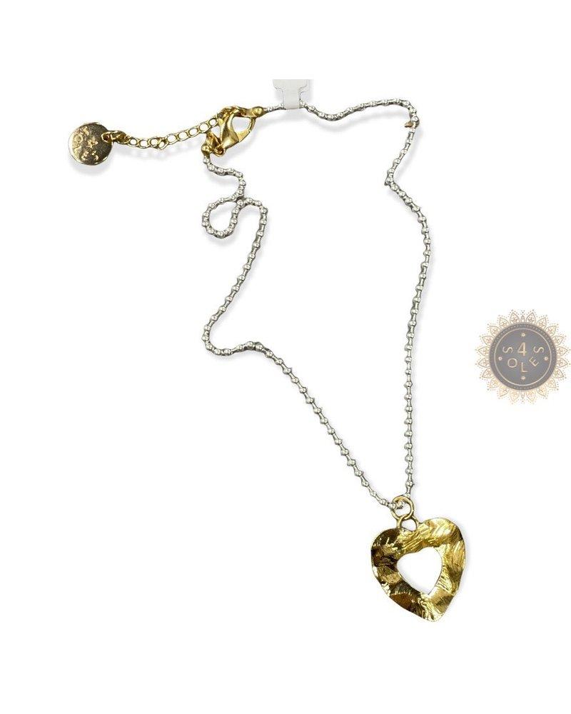 "Ball chain heart 20"""