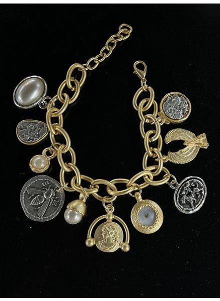 Multi charms bracelet