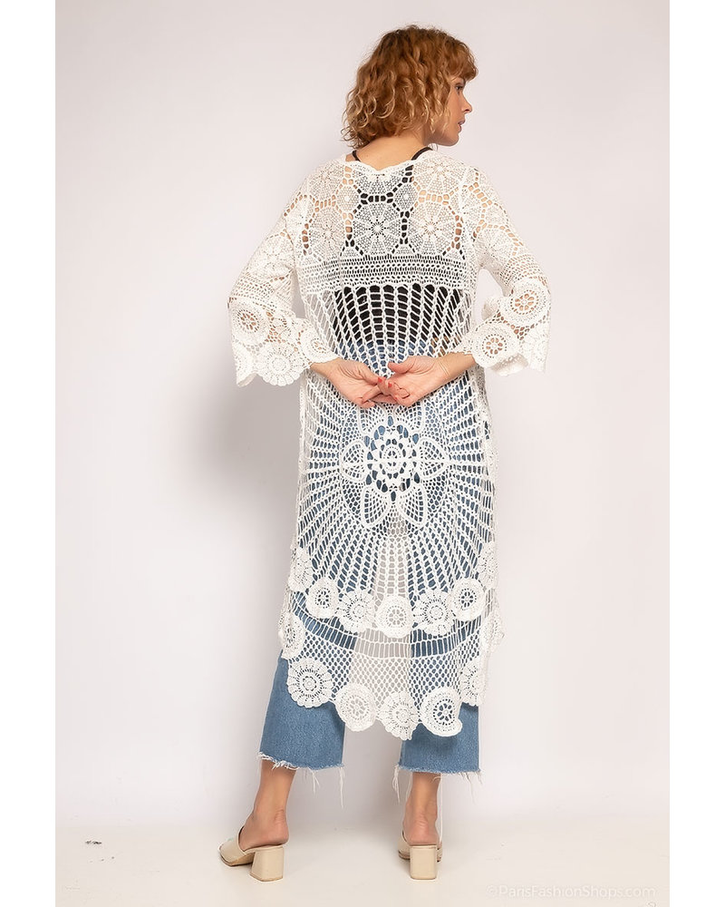 Asymmetric  crochet Top