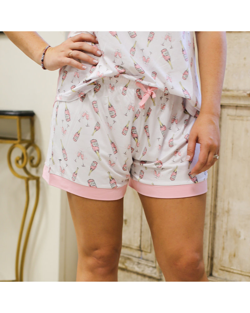 Champagne Dreams Short Sleeve Button Up