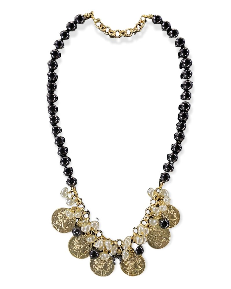 Black With Coins Necklace