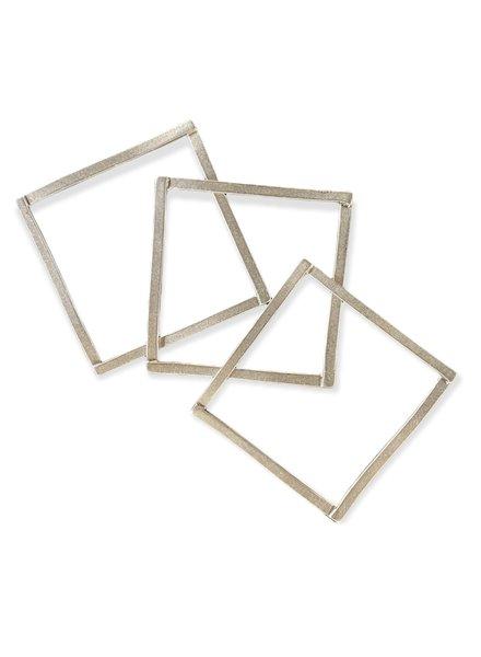 Square Silver Bangles