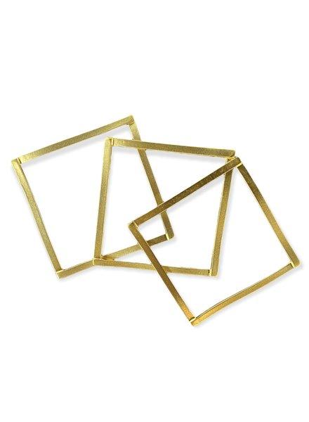 Square Gold  Bangles