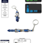 Dr Who -12th Doctor Sonic Screwdriver Keychain