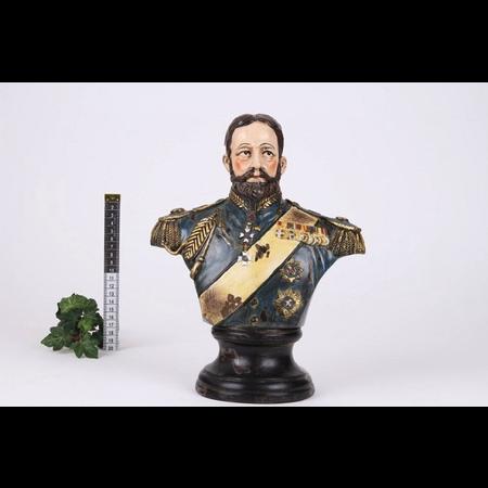 Buste Man General h.30x23.5x13 cm