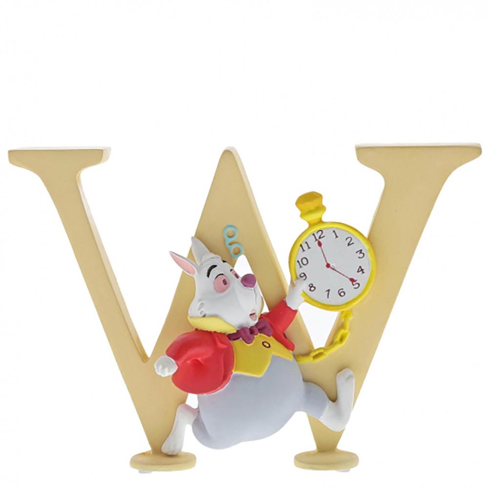"""""""W"""" - White Rabbit Disney Letter"""