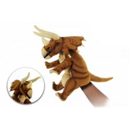 TRICERATOPS PUPPET (RUST BROWN) 42CM L