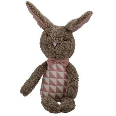 Plush bunny brown.rose ,off white