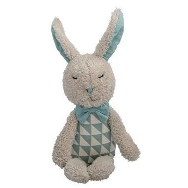 Plush bunny white dusty mint