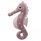 Knitted Toy Seahorse Pink Cotton