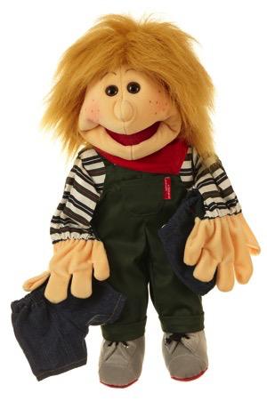 Kleiner Pelle. Junge mit zwei Hosen Handpuppe 45cm Living Puppets