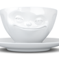 """Coffee cup """"Grinning"""" white"""
