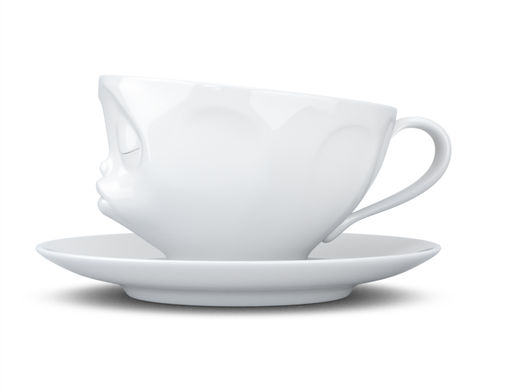"""Coffee cup """"Kissing"""" white"""