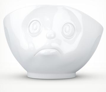 """Bowl """"sulking"""" white"""