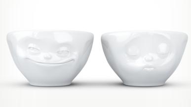 "Small bowl set ""Kiss&Grinn"""