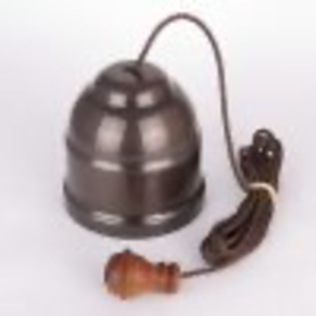 Ceiling Pull Switch Brown Cord Polished Brass Cover