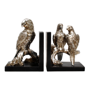 BOOKENDS- parrot ON BRANCH (21CM)