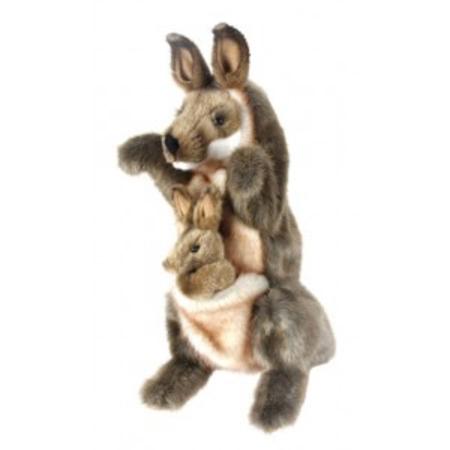 Kangaroo and Joey PUPPET 29cm