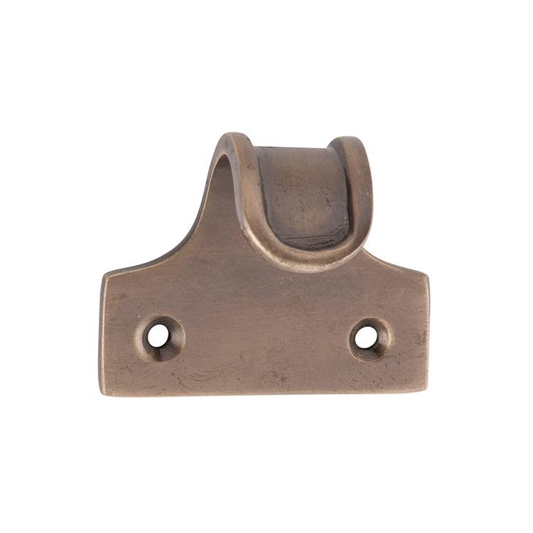 Sash Lift Ribbed Antique Brass H41xW48xP30mm