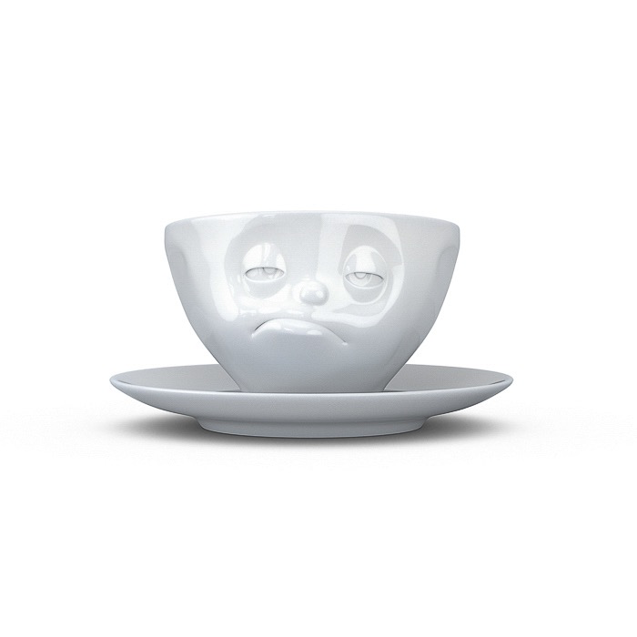 """Coffee cup """"Snoozy"""" white"""