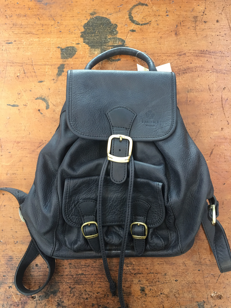 Calfskin Backpack-Black