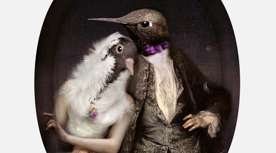 Lovebirds Tray