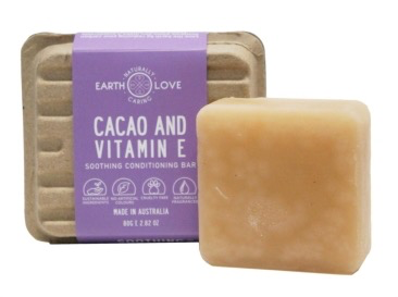 Earth Love 80G Soothing Conditioning Bar - Cacao & Vitamin E