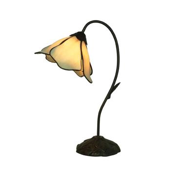 1 LIGHT LOTUS LAMP BEIGE