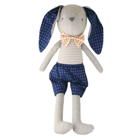 Louie Bunny Cuddle Toy - Navy