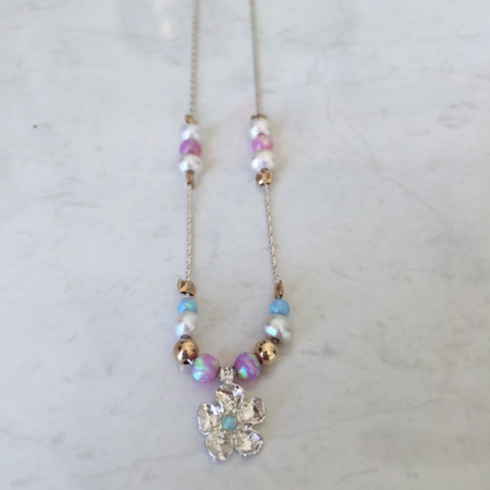 SS. Gold Filled. Opal. Pink Opal. Pearl