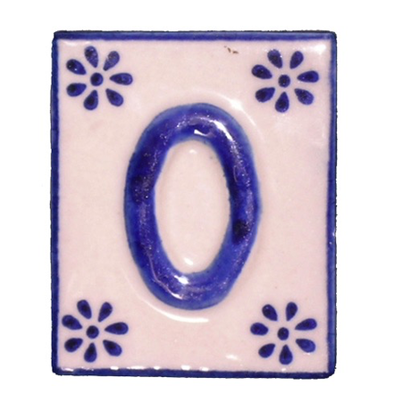 #0 TILE Blue/White Ceramic