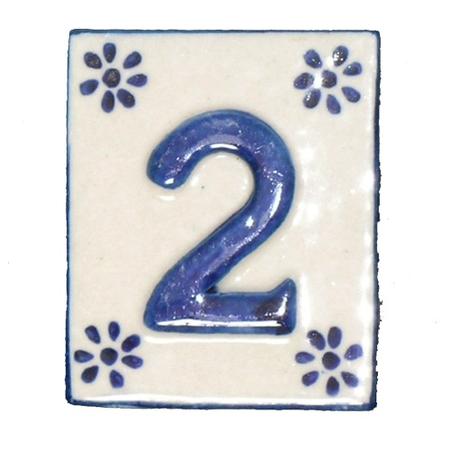 #2 TILE Blue/White Ceramic