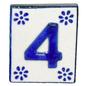 #4 TILE Blue/White Ceramic
