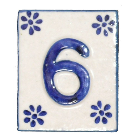 #6 TILE Blue/White Ceramic