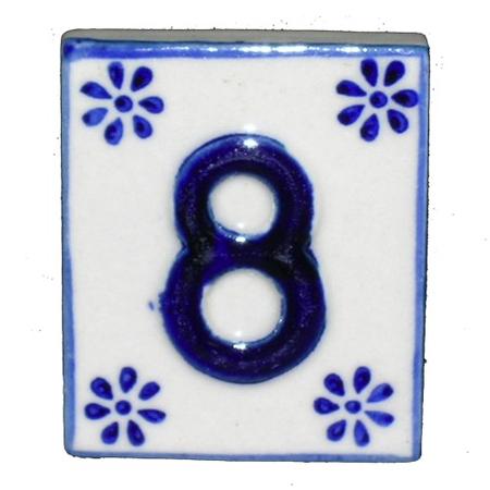 #8 TILE Blue/White Ceramic
