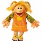 Kleine Jenny. Madchen mit geflochtenen ZOpfen Handpuppe 45cm Living Puppets