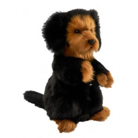 LONG HAIRED DACHSHUND PUPPET 35CM H