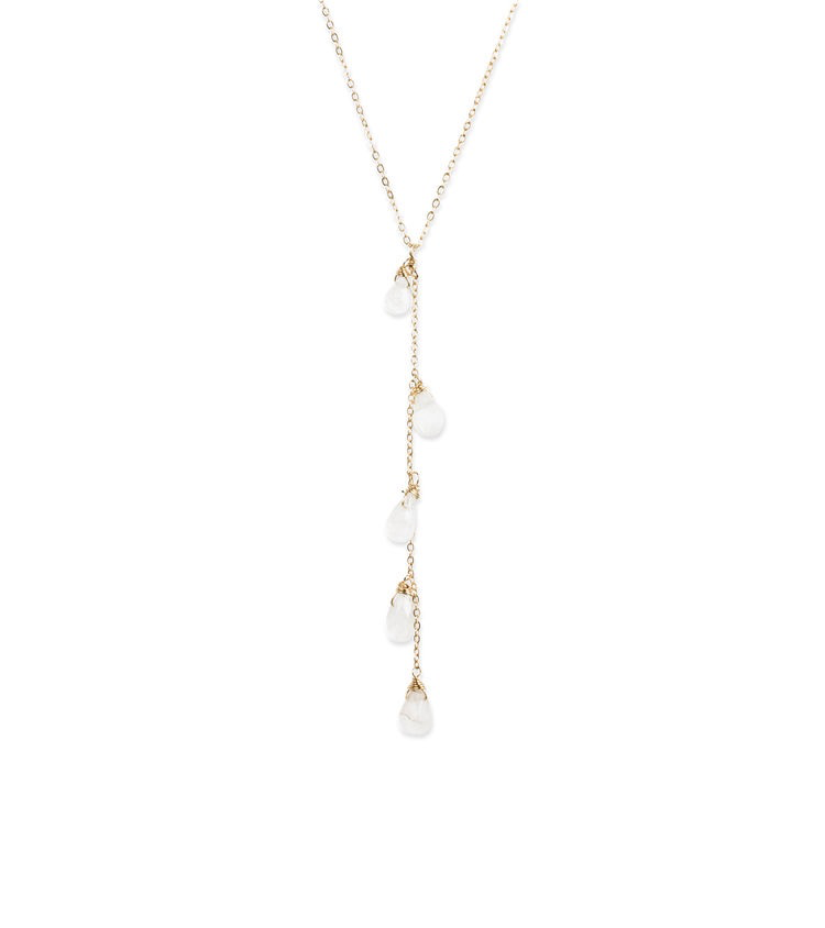 Cascade Moon Necklace - Gold