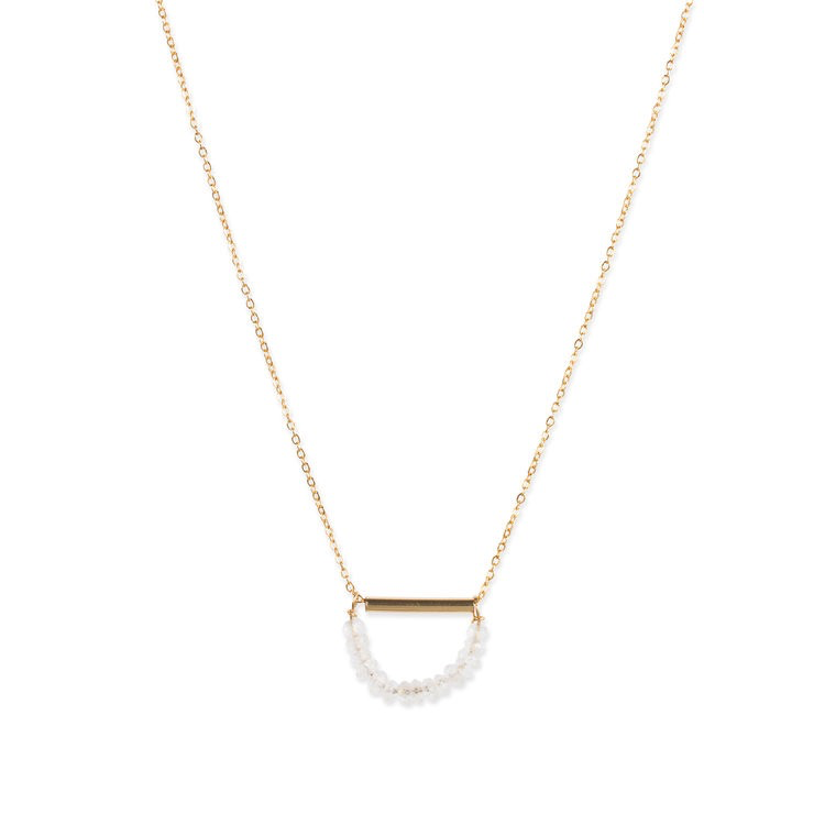 Soba Moon Necklace - Gold