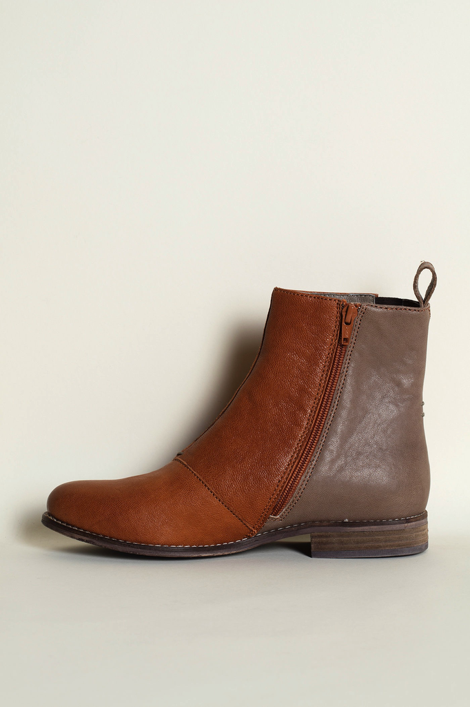 39 Terracotta/Grey Chelsea Boots WAS $235