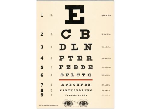 Giftwrap/poster Eye Chart