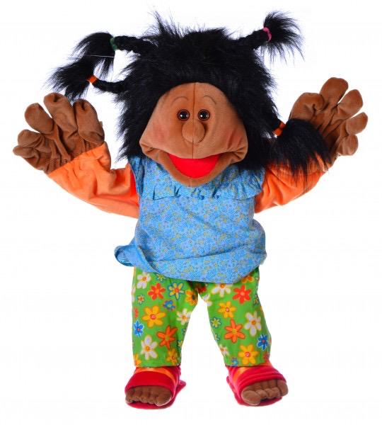 Maggy Madchen mit echten Espandrillos 65cm Living Puppets