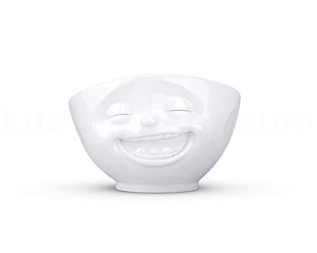 """Bowl """"Laughing"""" white"""