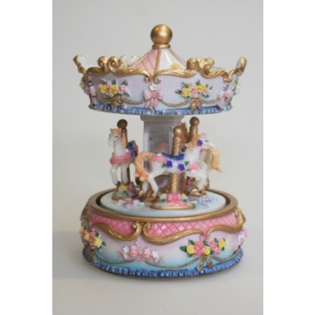 6' Pink/Blue Musical Carousel