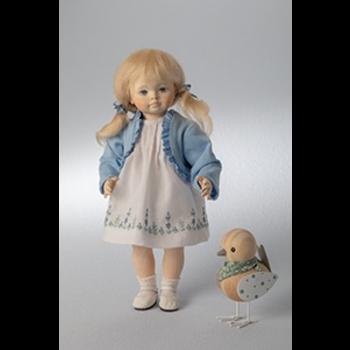 Wooden doll Isabelle 25cm