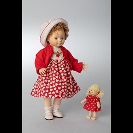 Wooden doll Bettina 20cm