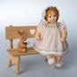 Wooden doll Evelyn 15cm