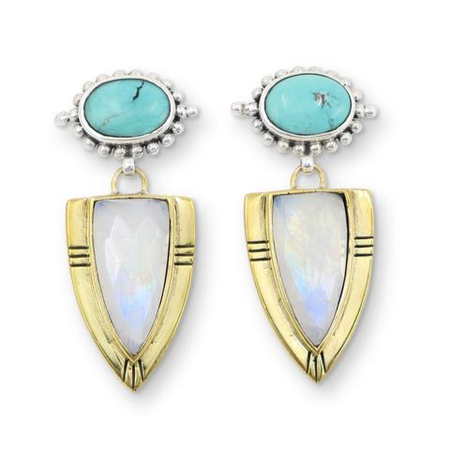 Casius Moonstone Earrings